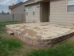 raise flagstone patio - colorado springs landscaping